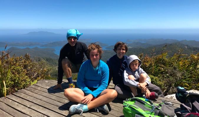 famille tout en haut NZ